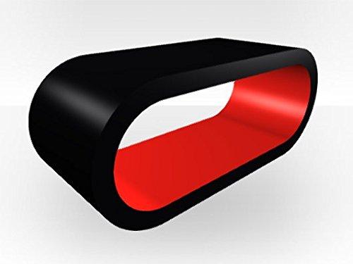 Auen-schwarz-Extra-Gro-Hoop-Couchtisch-Rot-glnzend