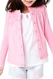 Pure Cotton Broderie Cardigan with Stay New [T77-6161C-Z]