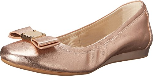 New Cole Haan Womens Tali Bow Ballet Flat Rose Gold Metallic 9.5 (Cole Haan New compare prices)