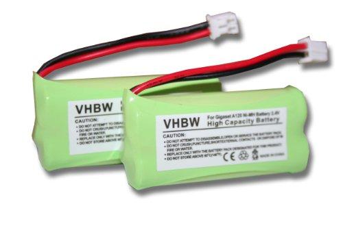 vhbw-set-2-batterie-700mah-24v-per-siemens-gigaset-a120-a140-qo63-universum-cl15-sl15-sost-v30145-k1