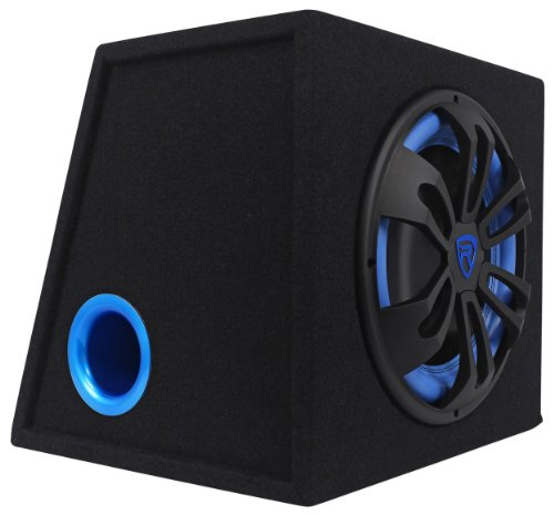 "Rockville Rvb12.1A 12"" 500 Watt Peak And 300 Watt Rms 4-Ohm Car Powered Subwoofer Enclosed In Sub Enclosure"