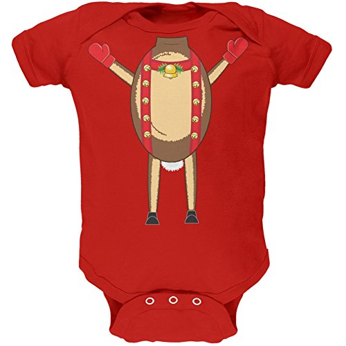 Reindeer Body Costume Infant Red Bodysuit