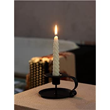 Ryocas Candle Holder - Vintage/Retro Style Classic Look Taper Candlestick Holder, Matte Black