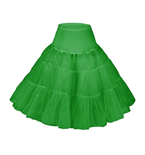 Snowskite Womens 50s Vintage Rockabilly Puffy Dress Petticoat Green L/XL (Petticoat Junction Season 4 compare prices)