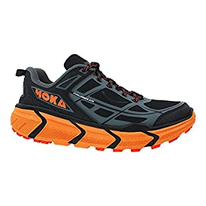 HOKA Challenger ATR Men's Trail Running Shoe, Black/Orange, UK12