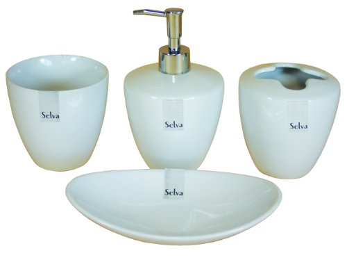 Campanet Selva Bathroom Accessories Set, 4 Piece