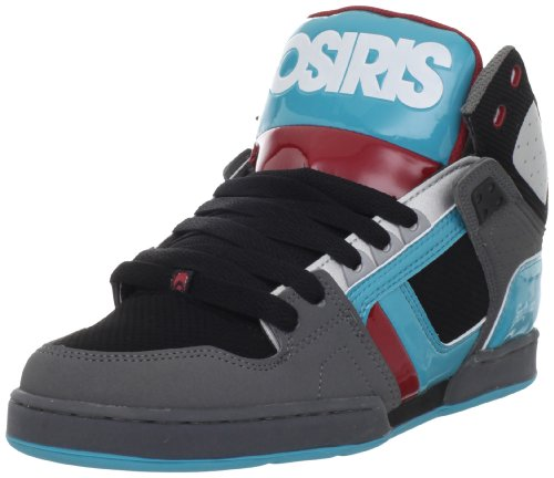 Osiris Men's Nyc83 Multicolored Trainer 1130-1362 9 UK, 10 US BLACK/TEAL/RED