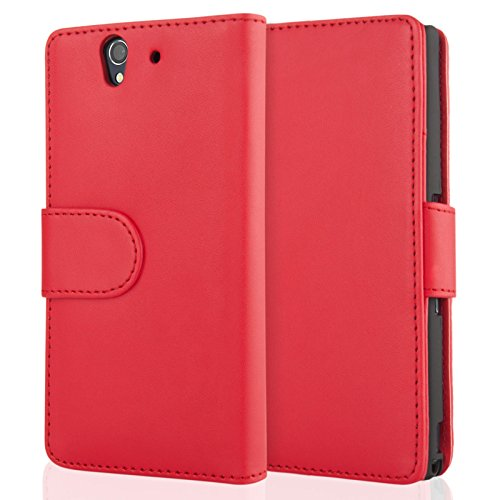 sony-xperia-z-pu-leather-wallet-cover-red