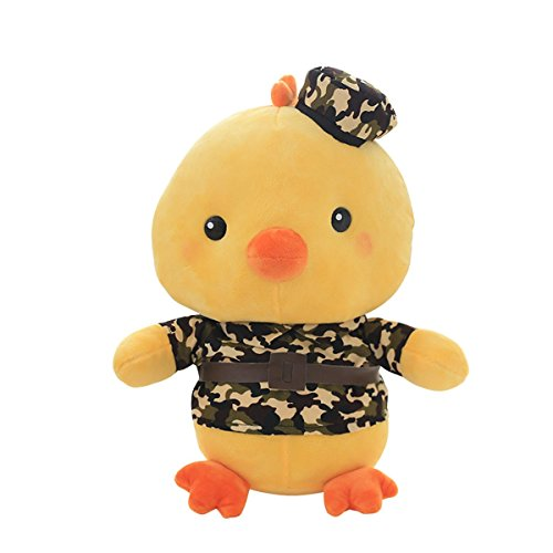 Cuddly Plush Stuffed Animals Toy Army Green Camouflage Chicken/Chick Doll 7