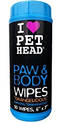Pet Head My Paws Rock Grooming Wipes Orangelicious 50 count