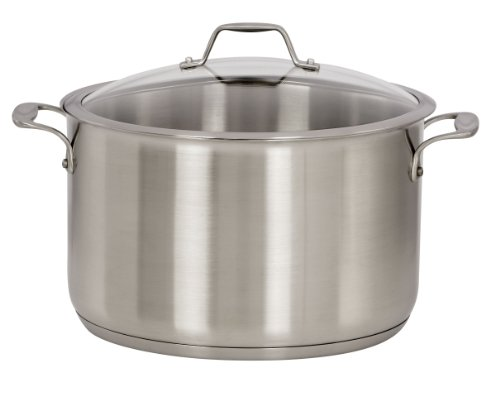 1 Sale American Kitchen By Regal Ware Stainless Steel 12 Quart Covered Stock Pot New
