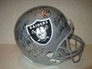 Oakland Los Angeles Raiders Legends Autographed Riddell Full Size Football Helmet...