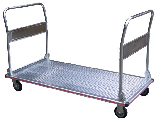 Vestil AFT-60 Aluminum Folding Platform Truck with Dual Handle and 5