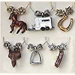 Equestrian Painted Wine Glass Charms for the Horse Lover You Know – 1476P