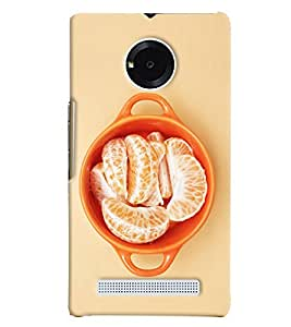 Blue Throat Orange Fruit Hard Plastic Printed Back Cover/Case For Micromax Yu Yuphoria