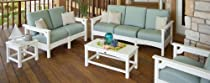 Hot Sale 5-Pc Eco-friendly Deep Seating Set in White