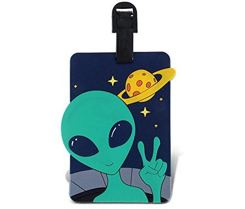 WeGlow International Fun Luggage Tag - Alien - 1
