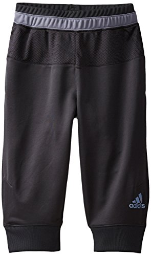 adidas Big Boys' Lit Up 3/4 Pant, Black/Grey, Medium