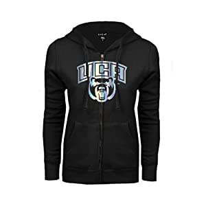 Central Arkansas Ladies Black Fleece Full Zip Hoodie