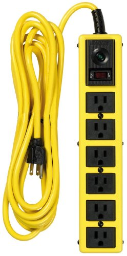 Yellow Jacket 5138 15-Foot 6-Outlet Metal Surge Protector Strip Cord