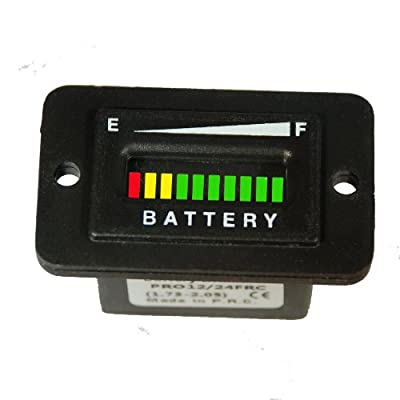 Battery Indicator - Solar Panel or Marine Trolling Motor 12 or 24 volts
