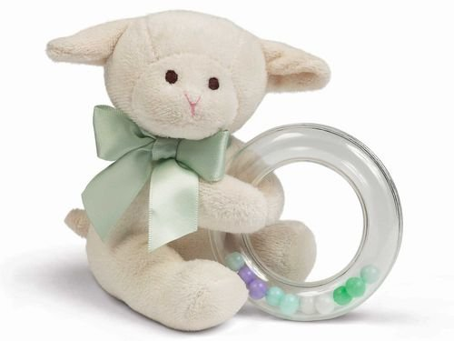 Bearington Bears Lamby Shaker Ring Rattle