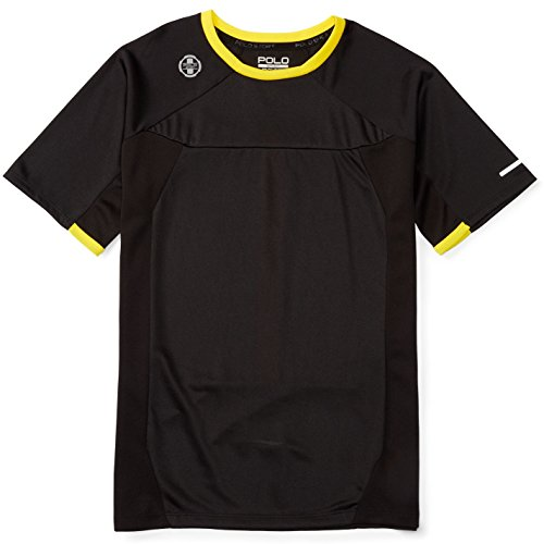 Polo Ralph Lauren Boys' 8-20 Pieced Performance Active Tee T-Shirt (XL(18-20), Polo Black)