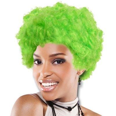 One Green Team Spirit Afro Wig
