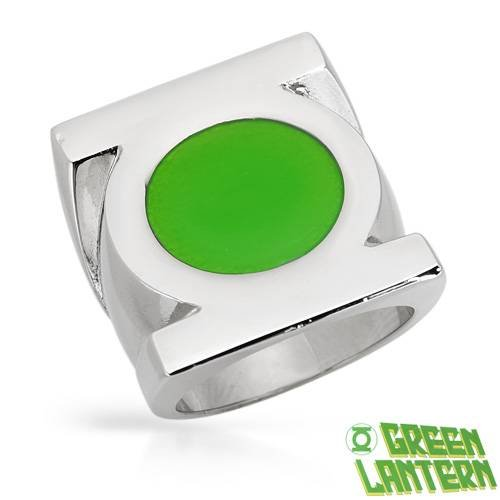 GREEN LANTERN Attractive Ring Made in Green Enamel and Stainless steel. Total item weight 19.5g (Size 10)