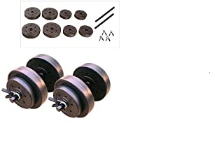 Gold's Gym 40 Pound LB Vinyl Cement Dumbbell Weight Set