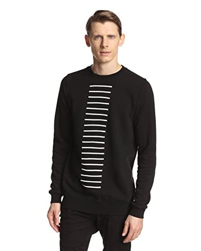 Rick Owens DRKSHDW Men's Crew Neck Ribbon Sweatshirt