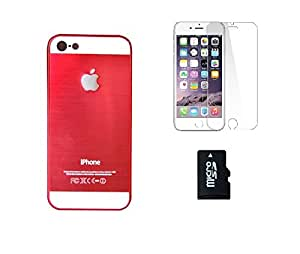 METLY Back cover for Apple IPHONE 5G With Temper Glass and Memory Card 16GB Red