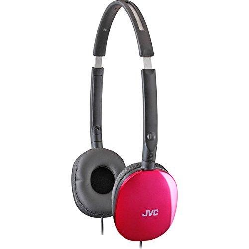 Brand New Jvc Pink Flats Lightweight Folding Headphones