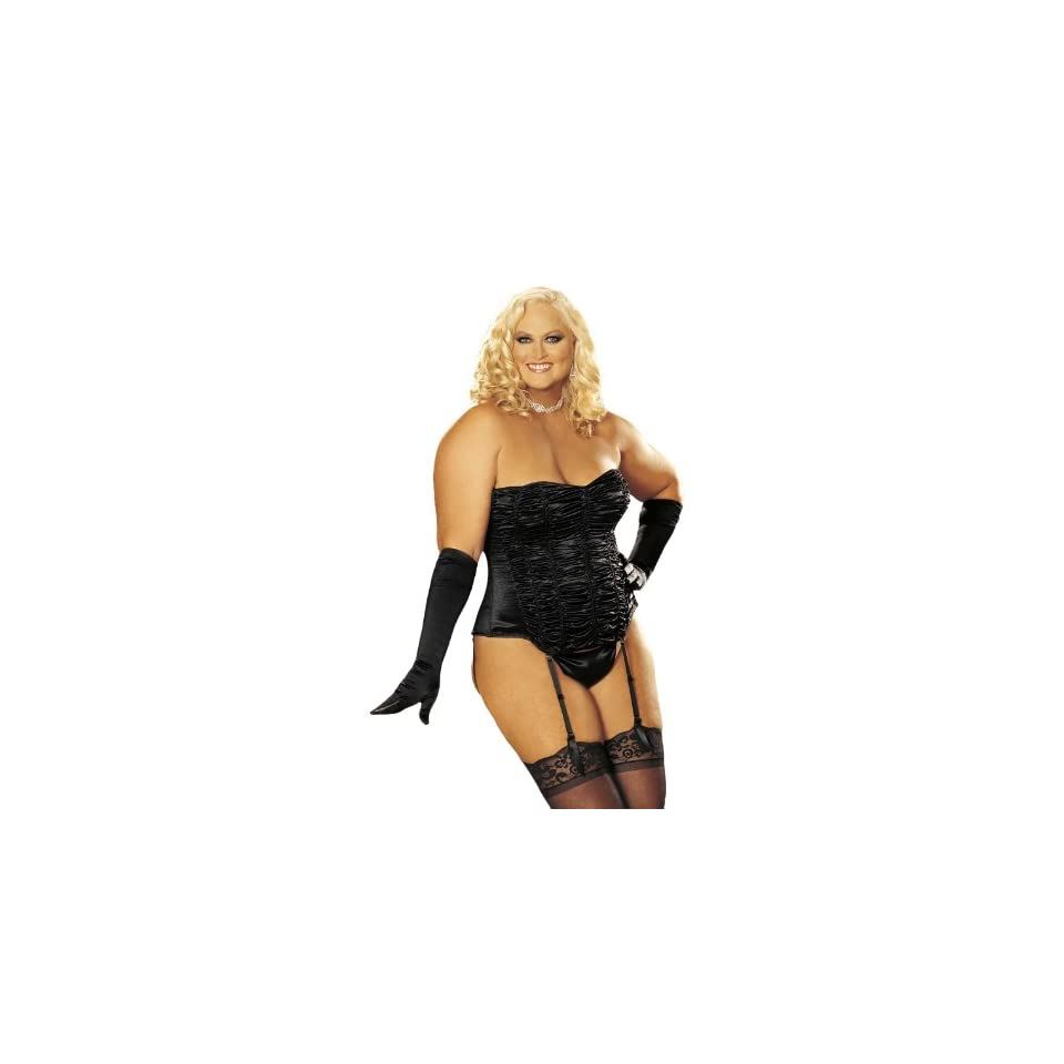 Shirley of Hollywood Womens Plus Size Pebble Corset, Black, 40