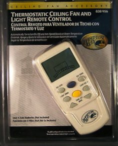 Hampton Bay Thermostatic Ceiling Fan And Light Remote Control 838 956 Remote Controls Light