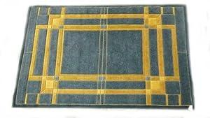 Frank lloyd wright tomek grill area rug 6 39 x 9 39 hand knotted rugs - Frank lloyd wright area rugs ...