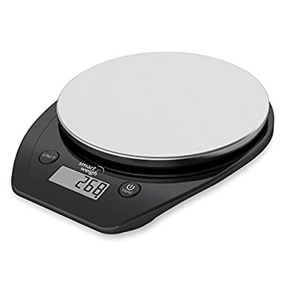 Smart Weigh 11lb/5kg Electronic Multifunction Kitchen and Food Scale, Stainless Steel Platform, Large LCD Screen,