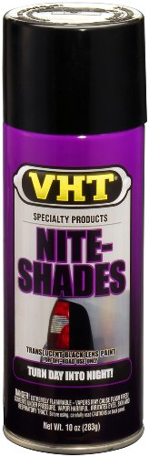 VHT SP999 Nite-Shades Lens Cover Tint Translucent Black Paint Can - 10 oz. (Spray Paint For Car Lights compare prices)