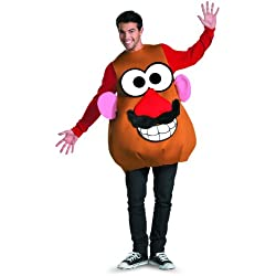 Disguise Mr./Mrs. Potato Head Deluxe Adult,Multi,XL (42-46) Costume
