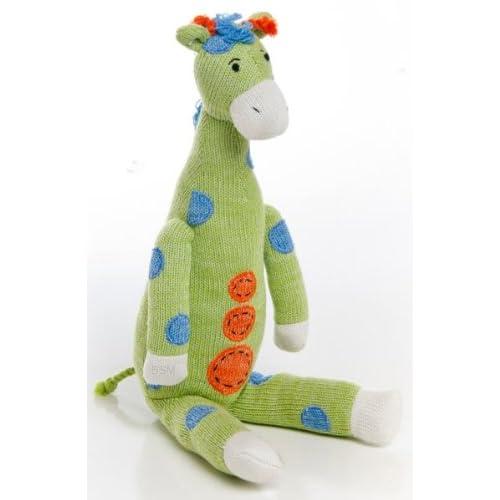 Glenna Jean Plush Green Giraffe
