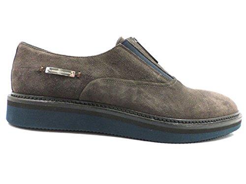 ALESSANDRO DELL'ACQUA uomo sneakers grigio blu camoscio (45 EU, Grigio)