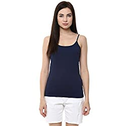 Ajile by Pantaloons Women's Casual Solid Camisole (205000005573130_Navy_ L)