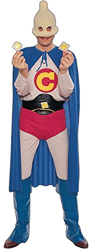 Captain Condom Costume - Standard - Chest Size up to 42