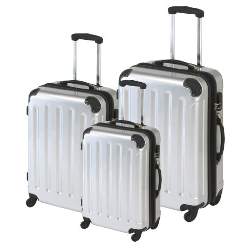 Polycarbonat Kofferset 3tlg mit ABS Silber