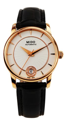 mido-baroncelli-automatic-silver-dial-black-leather-ladies-watch-m0072073603600