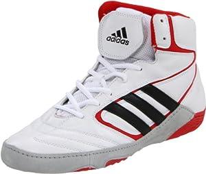 adidas Men's Matt Wizard IV JS Wrestling Shoe,White/Black/Collegiate Red,10.5 D US