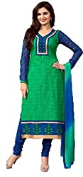 Vivacity Women's Cotton Unstitched Dress Material (Printed-03_Green_Free Size)