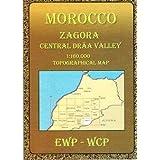 Marokko topographische Karte, Atlas-Gebirge ( Souss - Massa - Daraa) Zagora, Central Draa Valley, Tamegroute,...