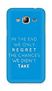 AMEZ we only regret the chances we didnt take Back Cover For Samsung Galaxy J3 (2016 EDITION)