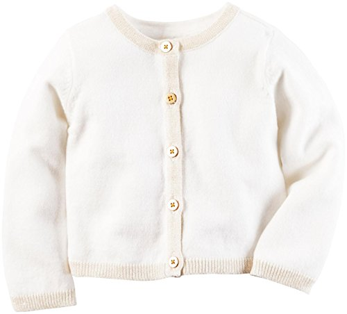 Carter's Baby Girls Cardigans, Ivory, 24M